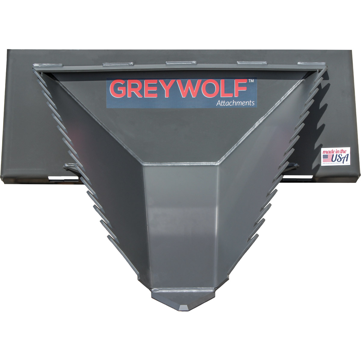GreyWolf Stump Bucket Skid Steer Attachment